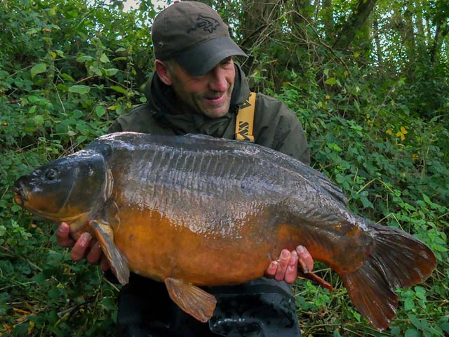 A fish known as Double Back weighing 36lb caught on SLK & Captive hooklink